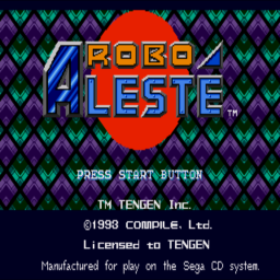 Robo Aleste (U) Title Screen
