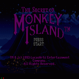 Secret Of Monkey Island, The (U) Title Screen