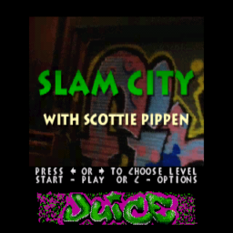 Slam City With Scottie Pippen (32X) (U) (CD 2of4 - Juice) Title Screen