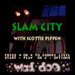 Slam City With Scottie Pippen (U) (CD 3of4 - Mad Dog) Title Screen