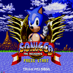 Sonic CD (U) Title Screen