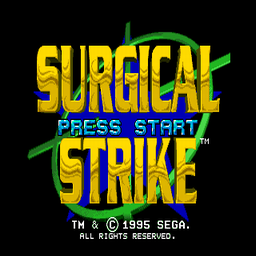 Surgical Strike (U) Title Screen