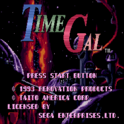 Time Gal (U) Title Screen