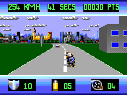 Out Run Europa (USA, Europe) In game screenshot