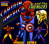 Captain America and the Avengers (USA, Europe) Title Screen