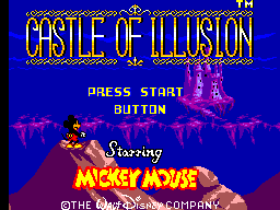 Castle of Illusion Starring Mickey Mouse (USA, Europe) Title Screen