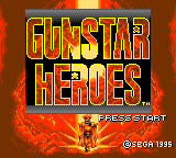 Gunstar Heroes (Japan) Title Screen