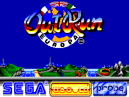 Out Run Europa (USA, Europe) Title Screen