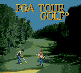 PGA Tour Golf (USA, Europe) Title Screen