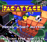 Pac-Attack (USA, Europe) Title Screen