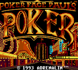 Poker Faced Paul's Poker (USA, Europe) Title Screen
