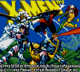 X-Men (USA, Europe) Title Screen