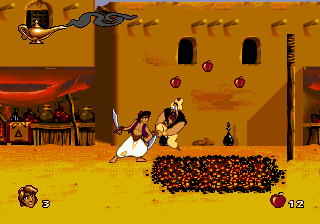 Aladdin (Europe) In game screenshot