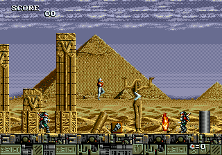 Atomic Runner (Europe) In game screenshot