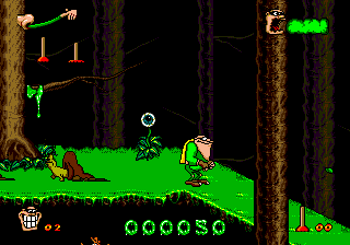 Boogerman - A Pick and Flick Adventure (USA) In game screenshot