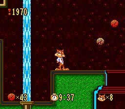 Bubsy in Claws Encounters of the Furred Kind (USA, Europe) In game screenshot