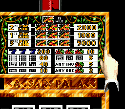 Caesars Palace (USA) In game screenshot