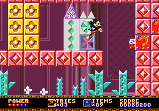 Castle of Illusion Starring Mickey Mouse (USA, Europe) In game screenshot