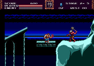 Castlevania - Bloodlines (USA) In game screenshot