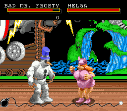 Clay Fighter (USA) In game screenshot