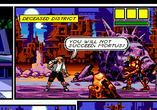 Comix Zone (USA) (Beta) In game screenshot