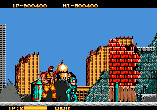 Crude Buster (Japan) In game screenshot