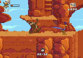 Desert Demolition Starring Road Runner and Wile E. Coyote (USA, Europe) In game screenshot
