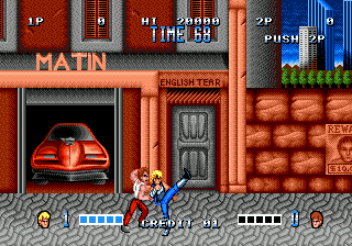 Double Dragon (USA, Europe) In game screenshot