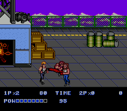 Double Dragon II - The Revenge (Japan) In game screenshot