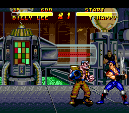 Double Dragon V - The Shadow Falls (USA) In game screenshot