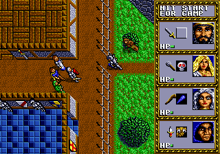 Dungeons & Dragons - Warriors of the Eternal Sun (USA, Europe) In game screenshot