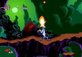 Earthworm Jim (USA) In game screenshot