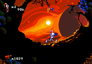 Earthworm Jim 2 (Europe) In game screenshot