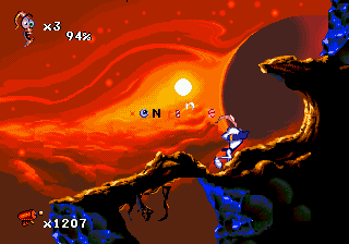 Earthworm Jim 2 (USA) In game screenshot