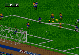 FIFA Soccer 96 (USA, Europe) (En,Fr,De,Es,It,Sv) In game screenshot