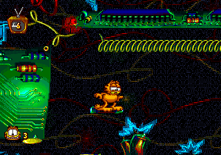 Garfield - Caught in the Act (USA, Europe) In game screenshot