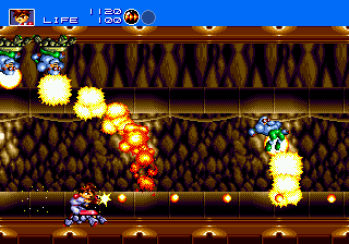 Gunstar Heroes (Japan) In game screenshot