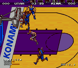 Hyper Dunk (Europe) In game screenshot