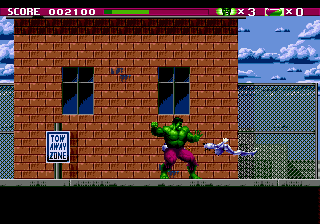 Incredible Hulk, The (USA, Europe) In game screenshot