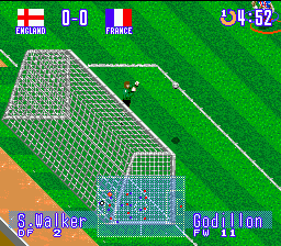 International Superstar Soccer Deluxe (Europe) In game screenshot