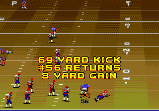 John Madden Football '92 (USA, Europe) In game screenshot
