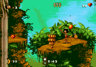 Jungle Book, The (Europe) In game screenshot