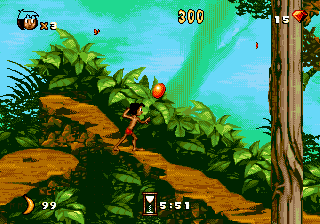 Jungle Book, The (USA) In game screenshot