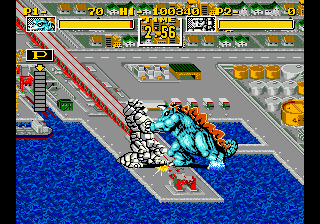 King of the Monsters (Europe) In game screenshot