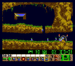 Lemmings (Europe) In game screenshot