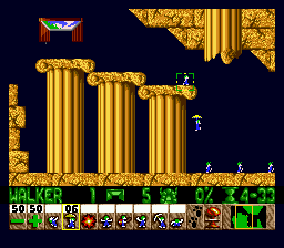 Lemmings (Japan) In game screenshot