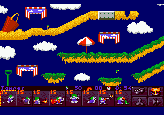 Lemmings 2 - The Tribes (Europe) In game screenshot