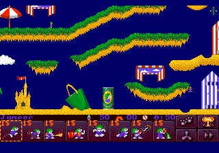 Lemmings 2 - The Tribes (USA) In game screenshot