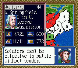 Liberty or Death (USA) In game screenshot