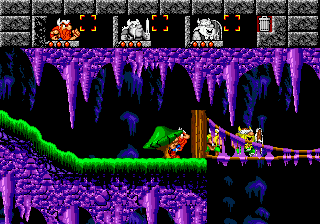 Lost Vikings, The (USA) In game screenshot